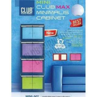 Lemari plastik lemari pakaian lemari serbaguna mini club susun 3