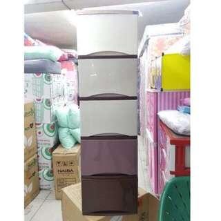 Lemari plastik lemari pakaian lemari laci serbaguna rovega premium susun 4