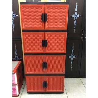 Lemari plastik lemari pakaian lemari serbaguna venus susun 3 motif tikar