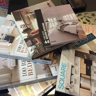 Interior design / home deco books / magazines