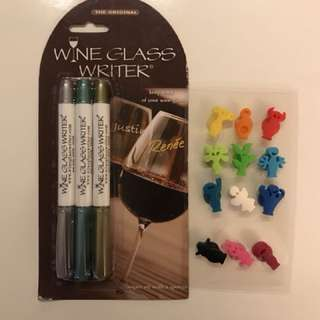 Wine glass writer & fun marker