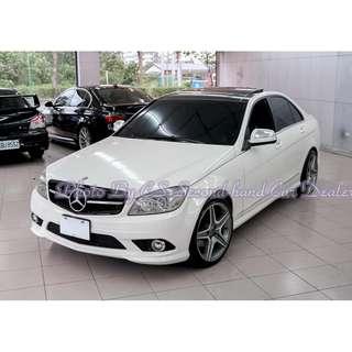 Mercedes-Benz W204 C300 3.0L 白 (全額貸 找錢增貸 通通強過件唷!!!)