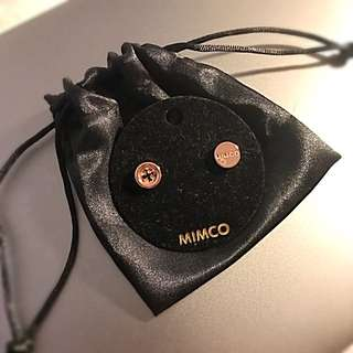 MIMCO Signature Button Earrings