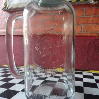 Mason jar glass pitcher
