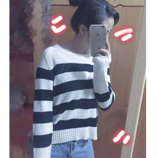 🚚 H&M條紋毛衣
