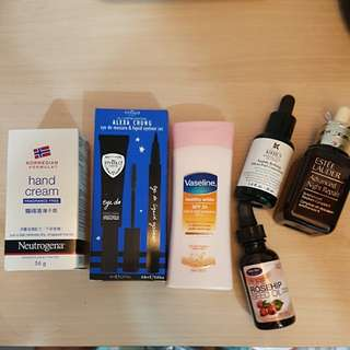 Hand cream/ eyeliner set/ Vaseline and many more!