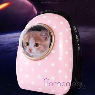 Pet Space Capsule Polka Dot Hello Kitty Pets Dog Cat Luggage Carrier Bag Minion Doraemon Gift