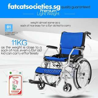 11kg Premium Self Propelled Wheelchair removable cushion