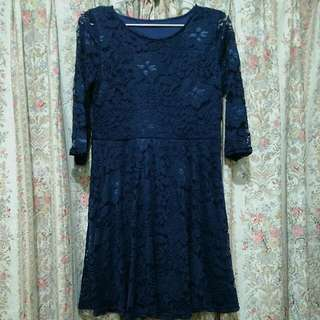 Navy Dress by Waikiki