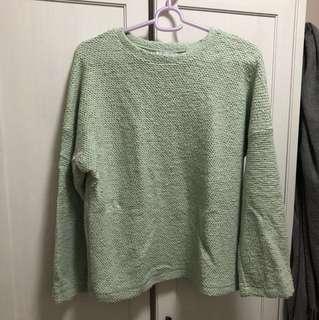 Zara Winter Mint Green Sweater