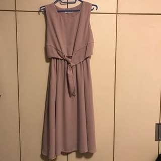 雪紡質料 Korean Style Onepiece Summer Dress 👗 (M size)