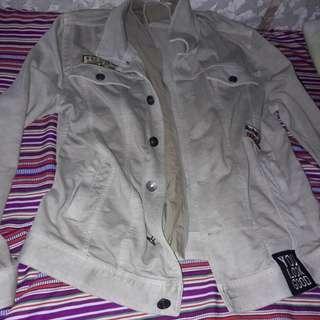 Denim brown jacket large not levis uniqlo penshoppe bench