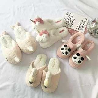 日本居家毛絨溫暖保暖室內拖鞋