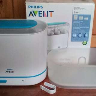 (Free postage) Phillips Avent 3 in 1 bottle sterilizer