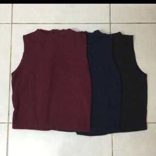 Brand New High Neck Top - 2 for RM30