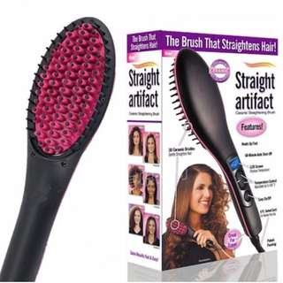 (Brand New)Hair Straightener Brush | Ceramic Coated Bristles | Fast n Easy to Use | Great For Travel