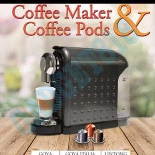 BNIB Nespresso Capsule Compatible coffee Machine