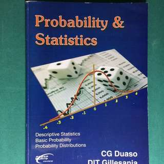 Probability and Statistics by Gillesania