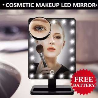 16/22 LEDs Brightness Adjustable Cosmetic Makeup Lighted Magnifier Shower Room Mirror