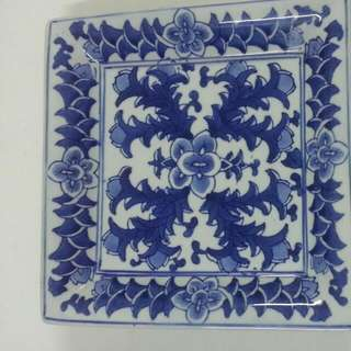 Fine China Porcelain Square Dish