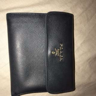 Authentic Prada Small Wallet Black