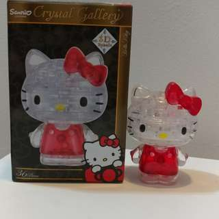 3D Hello Kitty Crystal Puzzle