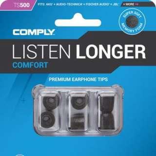 (1 pair) Comply earphone tips comfort 500