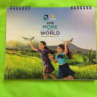 NEW & Collectible Item : Singapore Airlines Desk Calendar 2018