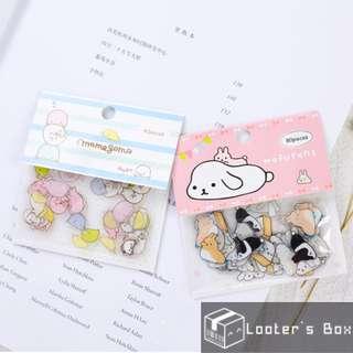 80 Pcs Mamagoma Seal & Mofutans Bunny Cute Loose Sticker Pack (AAC)