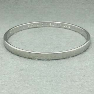 Kate Spade New York Sample Bangle 銀色手鈪 手環 (內部直徑6.5 cm )