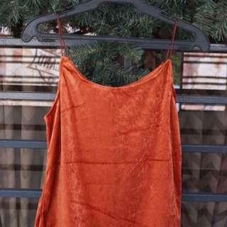 Velvet Orange Top