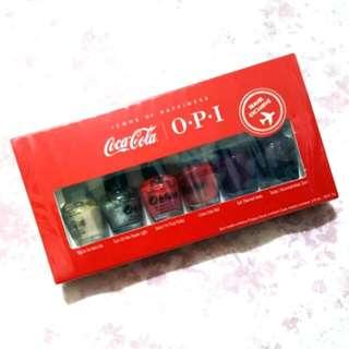 🚚 聖誕好禮❤航空限定 全新OPIxCoca-cola mini#美妝半價拉