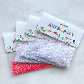 Holographic glitter hearts
