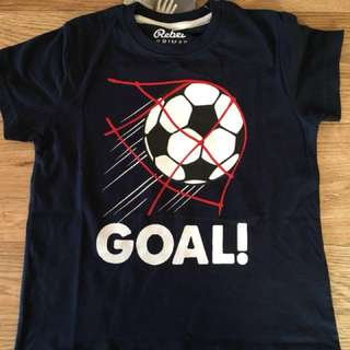 December: 1.5-8yrs primark boy 'goal!' Tshirt