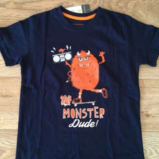 December - 1.5-8yrs Primark boy 'yo monster dude' tshirt