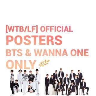 [WTB/LF] BTS & WANNA ONE OFFICIAL POSTERS