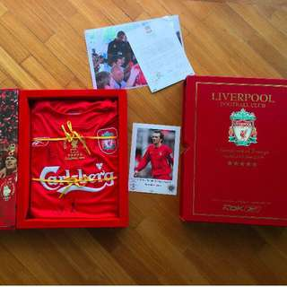 2005 Liverpool FC LFC Champions League Box Set Signed