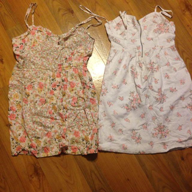 2 Cotton Floral Dresses