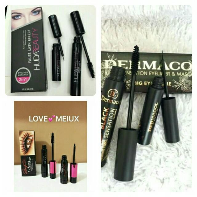 2in1 mascara and licquid eyeliner