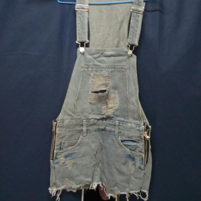 牛仔吊帶褲裙