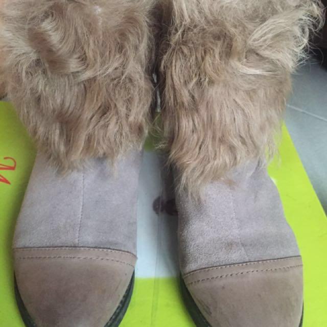 羊毛短靴鞋