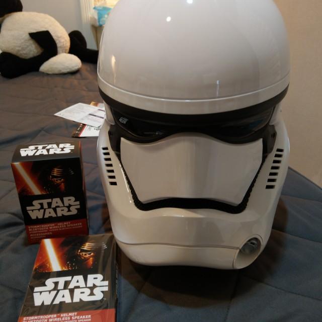 星際大戰*帝國風暴兵 白兵 頭盔1:1藍牙喇叭  (幾近全新)