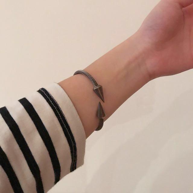 韓國購回 設計感金屬手環