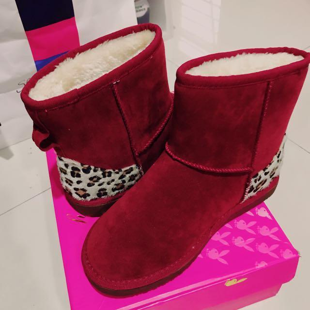 豹紋 短靴