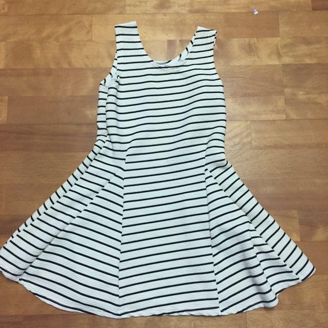 橫條紋無袖洋裝 #我的女裝可超取