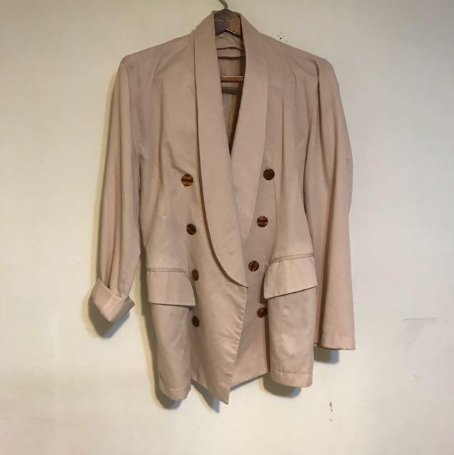 古著 長版 西裝外套 休閒 含運 M號