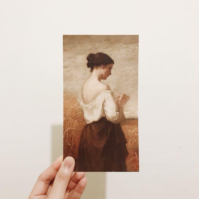 奧塞美術館 明信片 農婦 Musée d'Orsay Postcard 故宮博物院 Made in Taiwan
