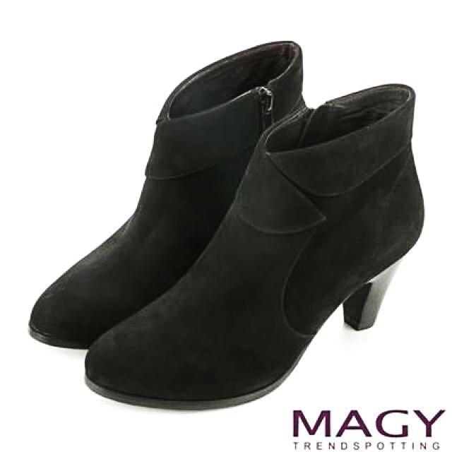 全新 Magy 專櫃 麂皮復古短靴