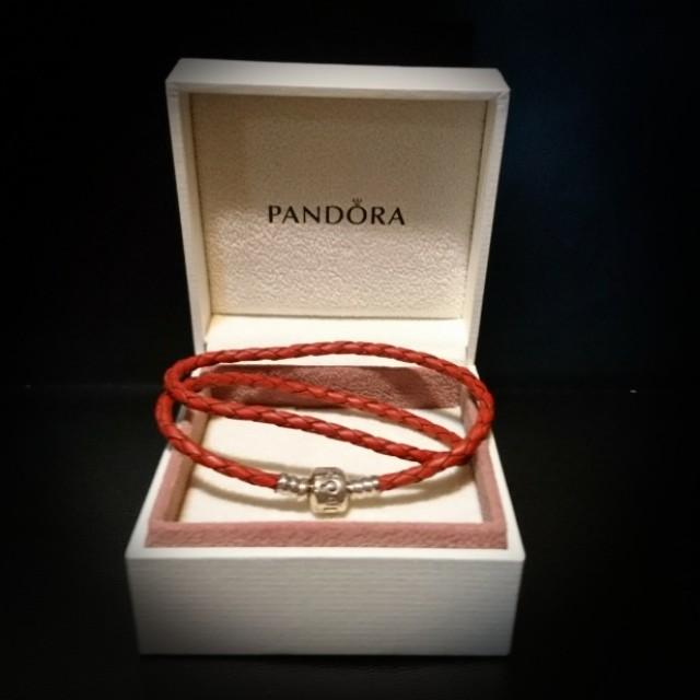正版 Pandora 織皮手鏈 兩圈