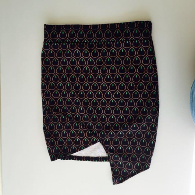 ⚡ REPRICED Cute Assymetrical Pencil Cut Skirt